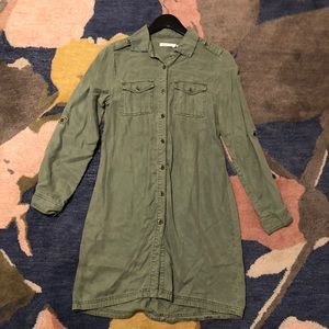 Kenneth Cole Reaction Olive Utility Dress Small